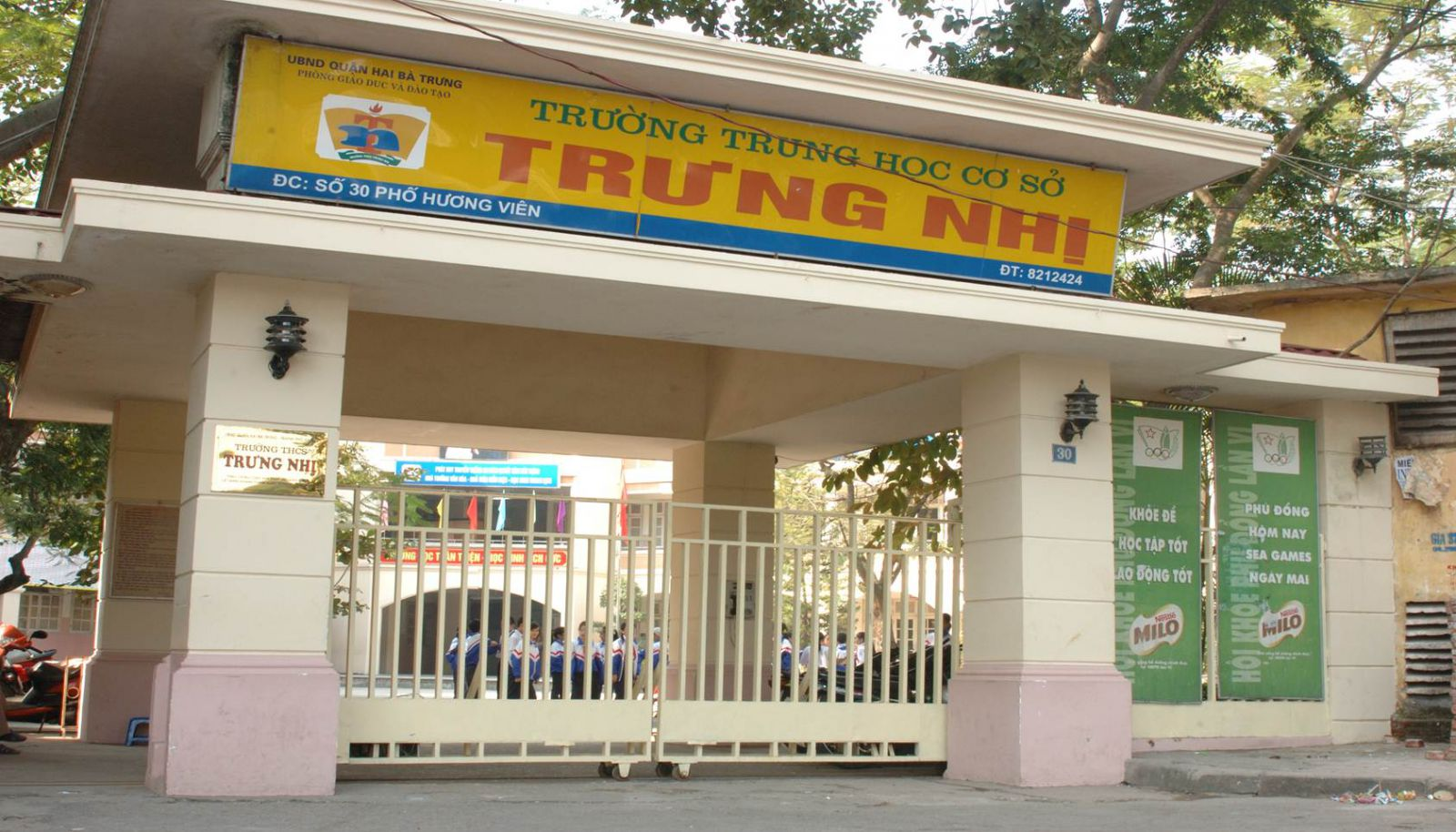 Trưng Nhị - Trường THCS công lập quận Hai Bà Trưng, Hà Nội (Ảnh: Tây Hồ Housing)
